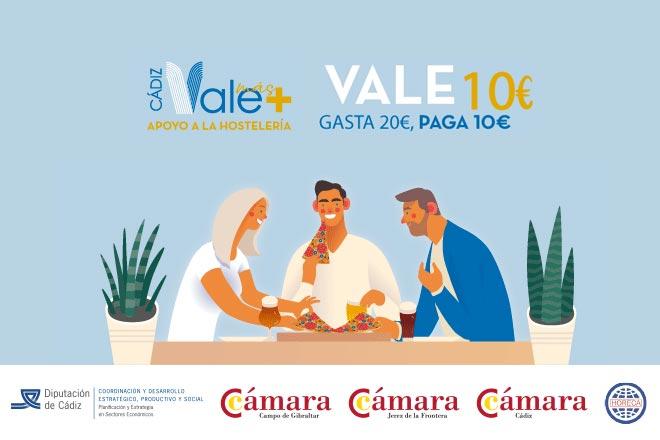 Turismo y Comercio animan a los establecimientos hosteleros a participar en la campaña Cádiz Vale +, que promueve el consumo en la temporada baja