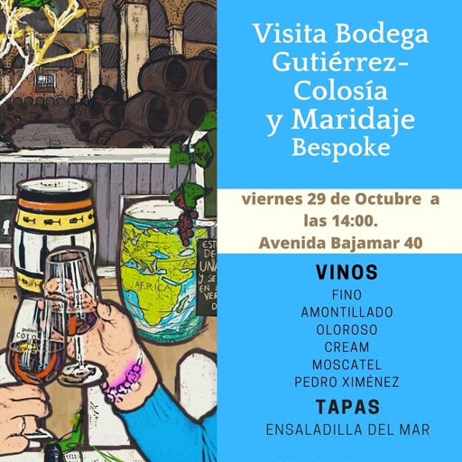 Visita Bodega Gutiérrez Colosía y Maridaje Bespoke